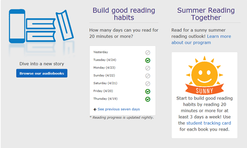 summer reading together dashboard