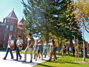 Tour Group on Campus