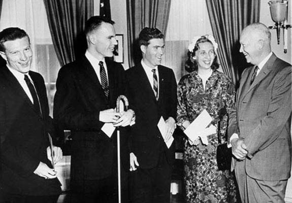 president eisenhower meets awards winners