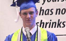 Dustin explains path to being a Valedictorian