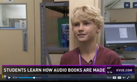 Learning Ally audiobook studio tour