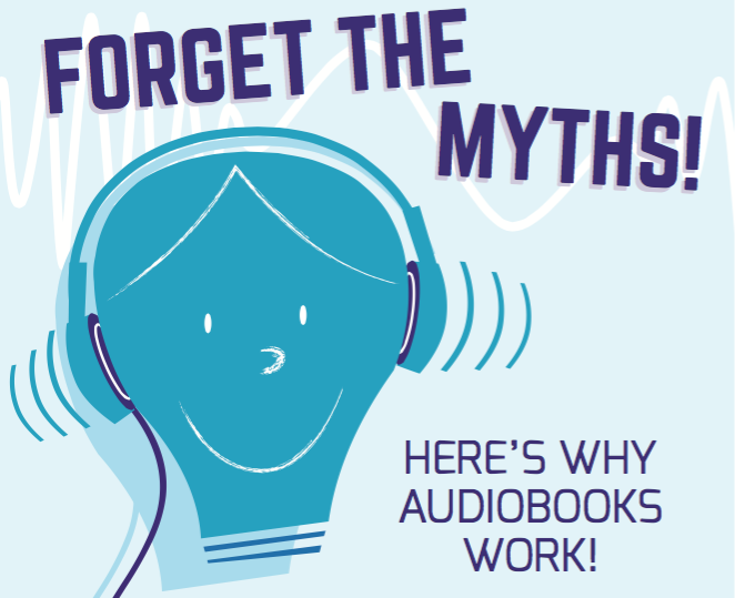 audiobook myths infographic